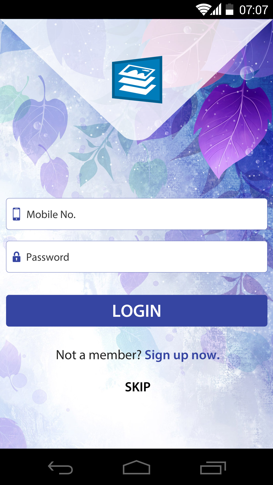 Free android app login screen design