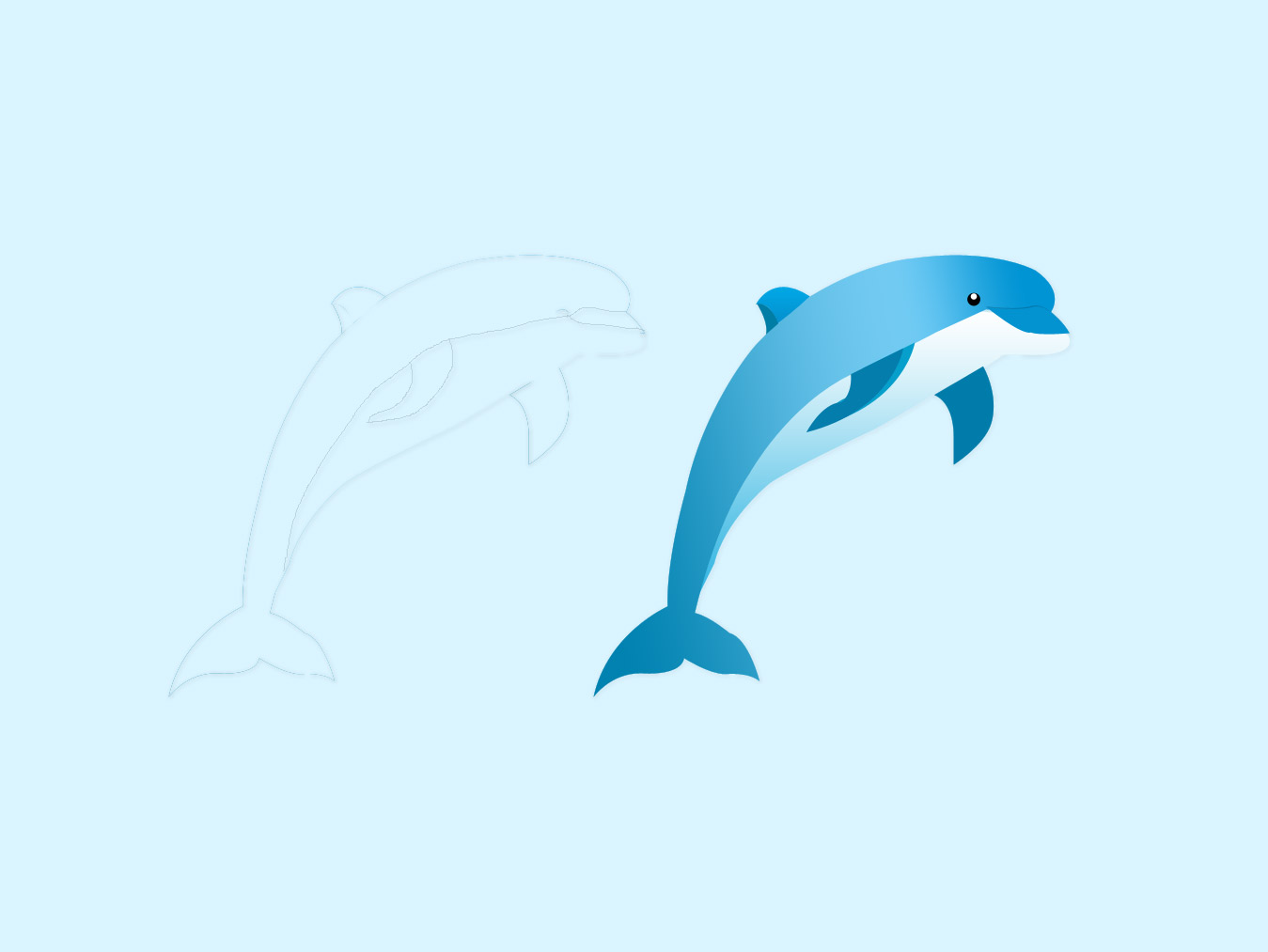 Dolphin PSD Mockup icon free download