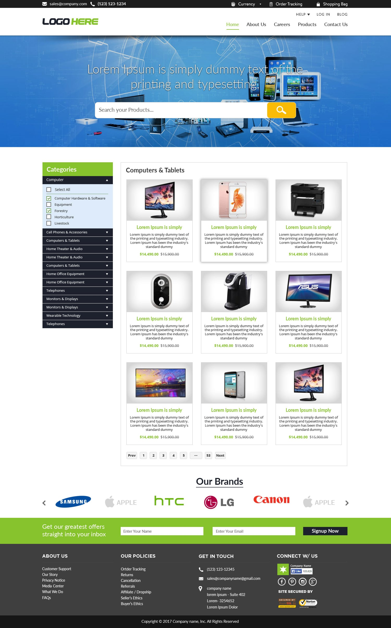 Free Ecommerce Website Templates Free Psd Design
