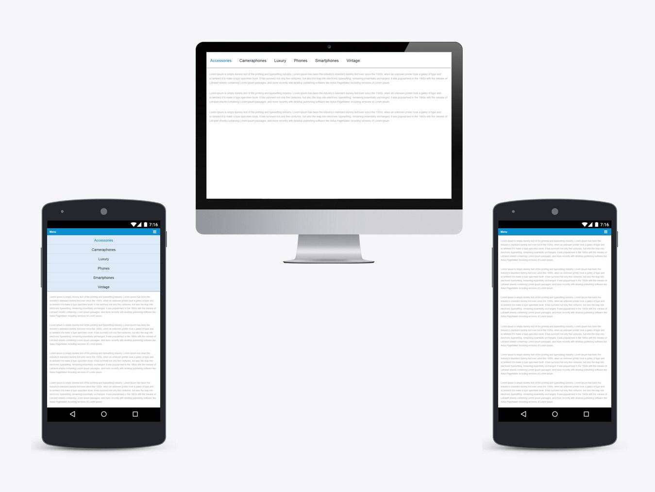 Responsive navigation menu jquery free download