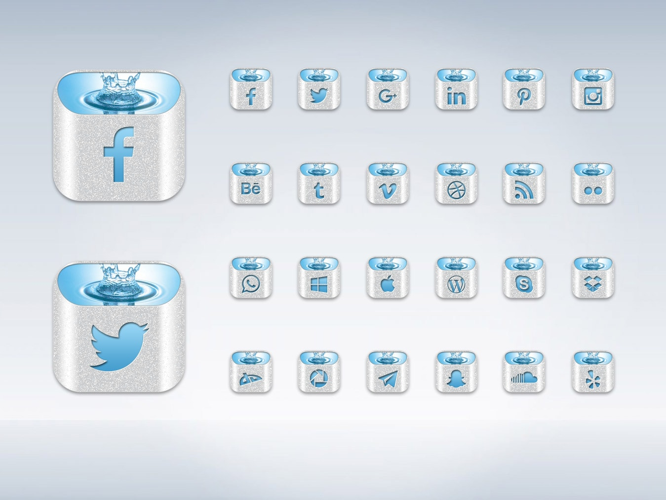 Free social media icons full graphic psd file