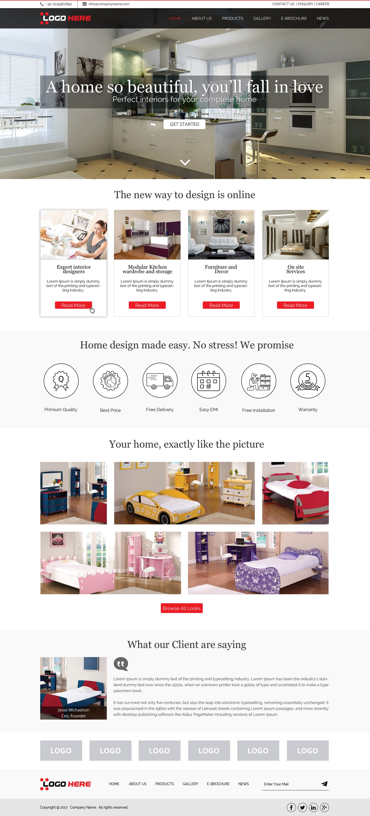 Interior website design template free psd design Interior design videos free download