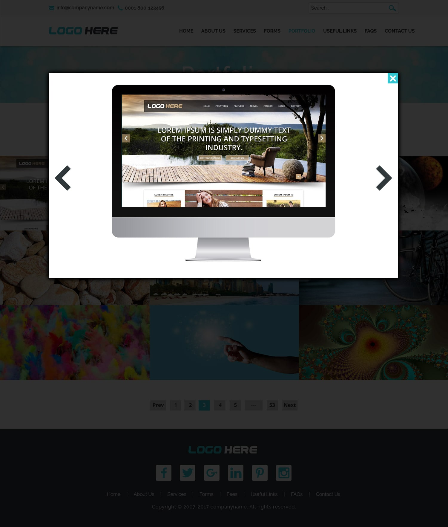 Website portfolio template