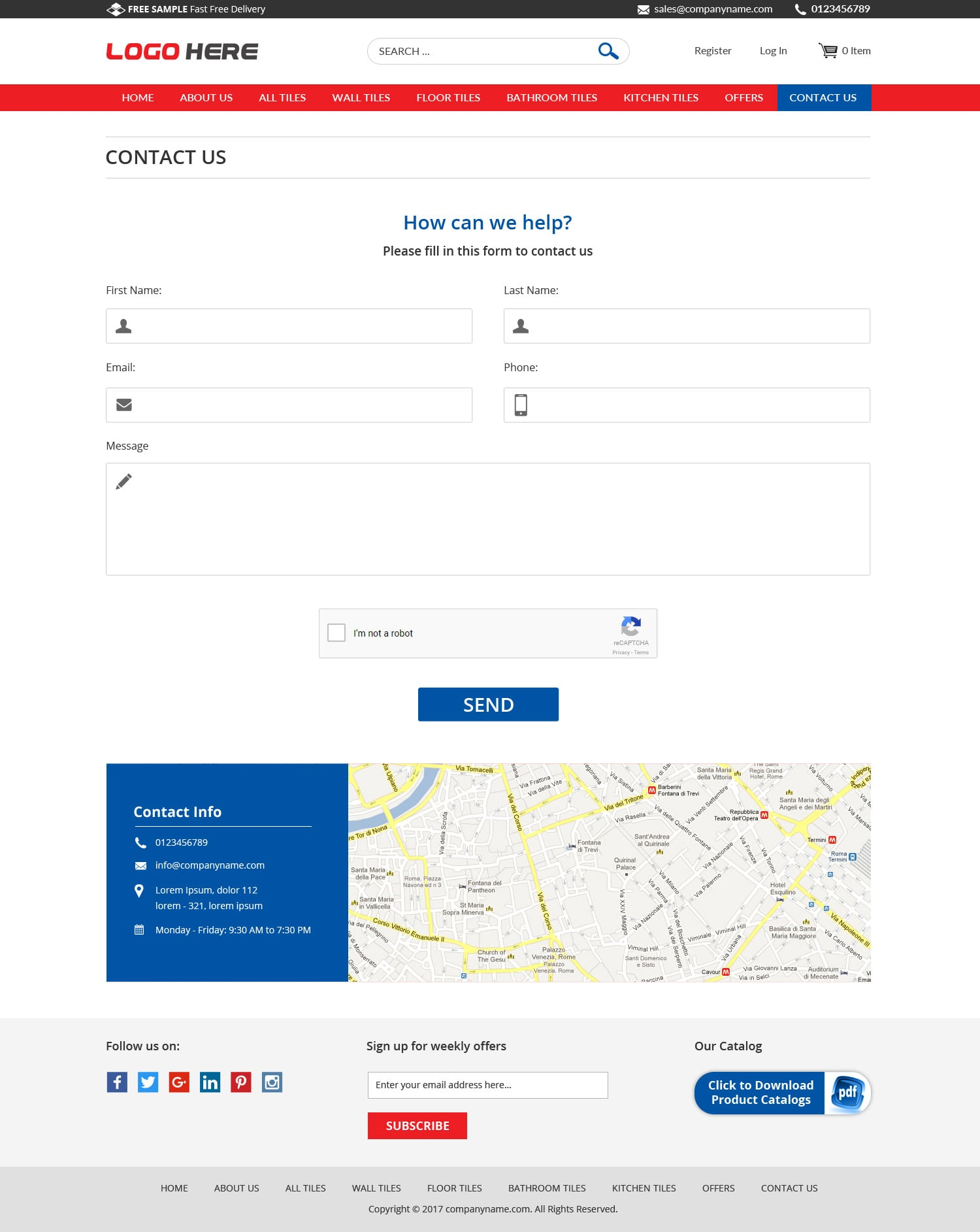 Tiles business free website templates