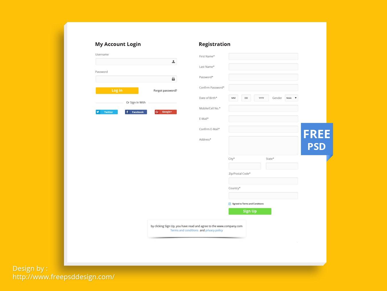login-registration-form-design-template-mockup Registration Form Design In Html And Css Free Download on