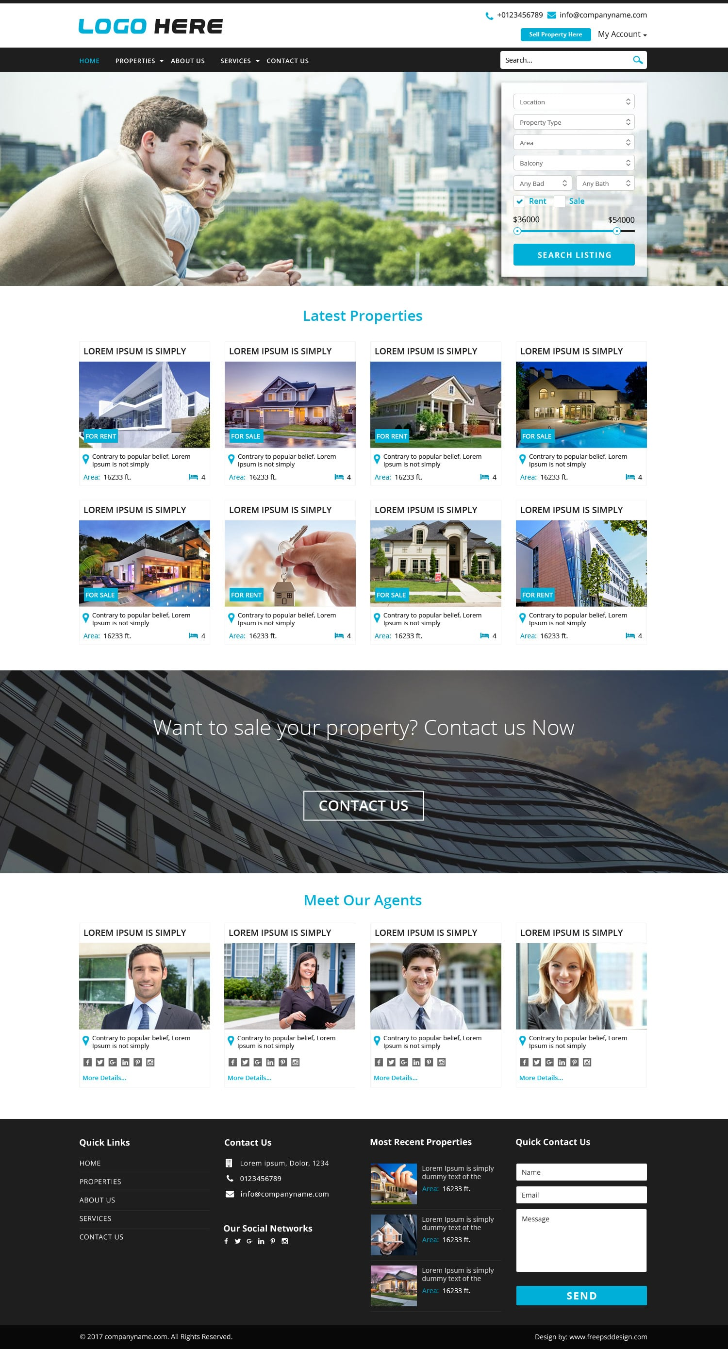 Online Real Estate Website