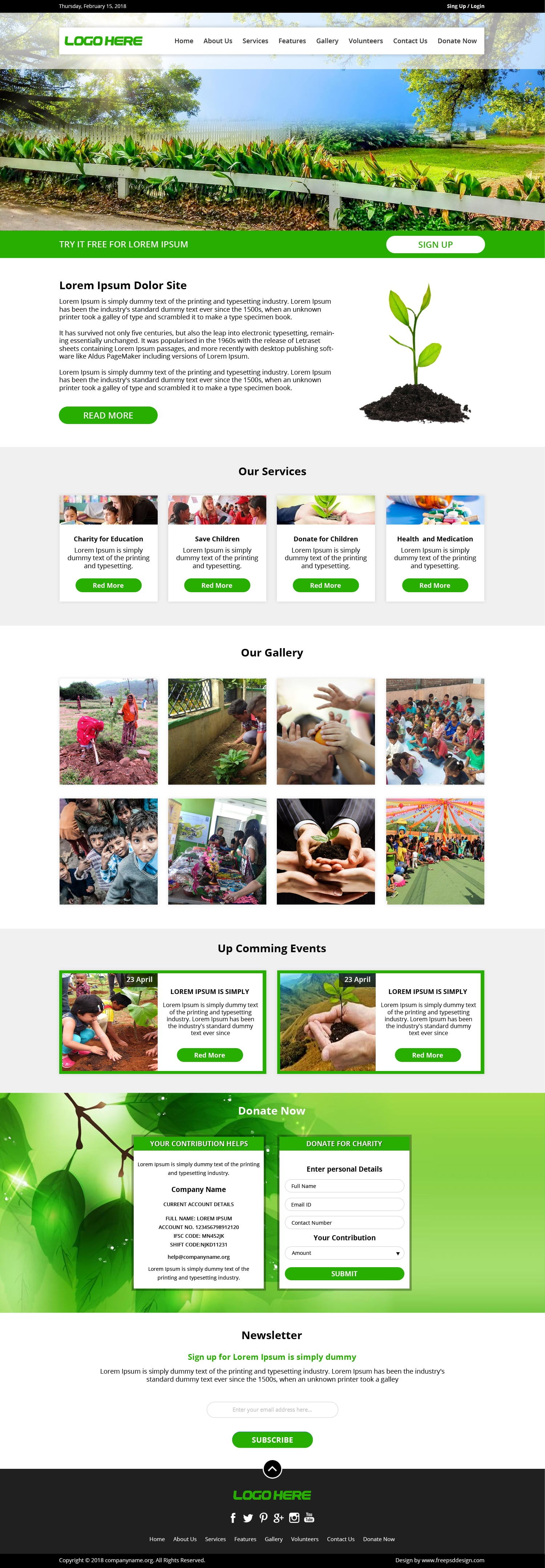 Free charity website template download