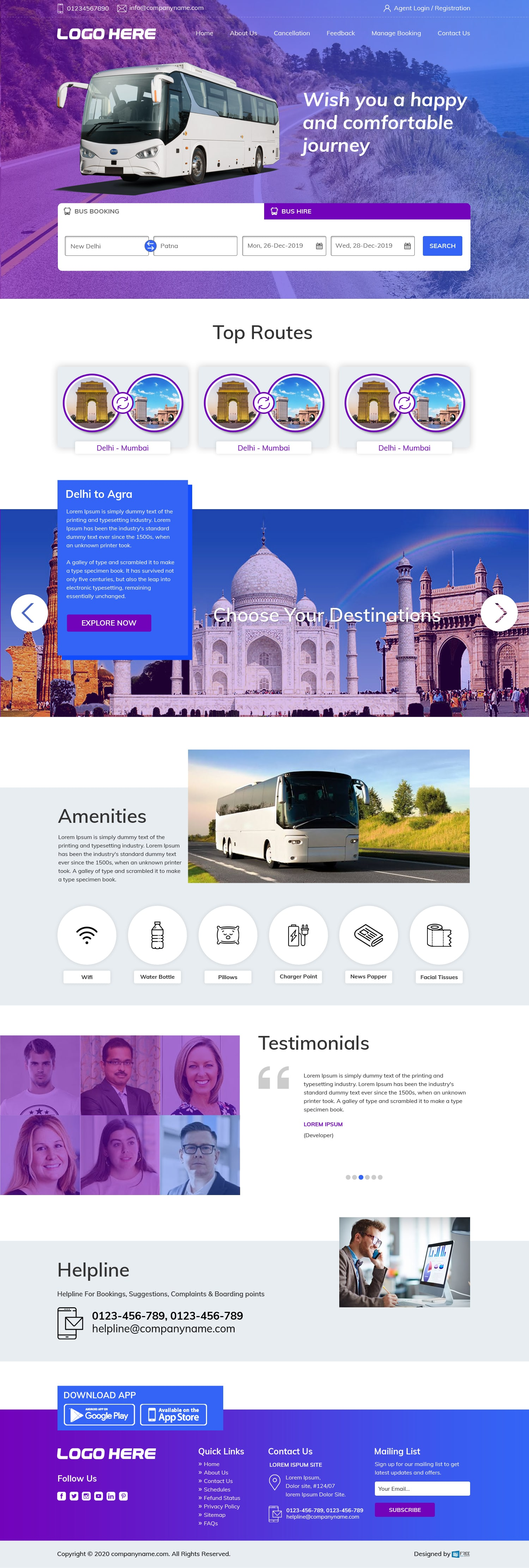 Travel Agency Website Landing Page
